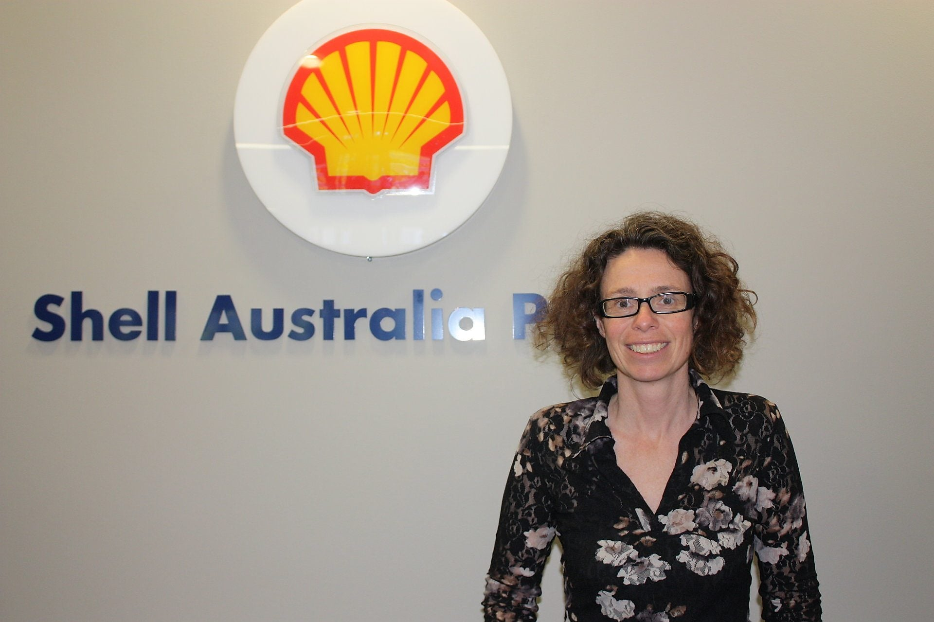 Sheila Graham at the Shell Australia office