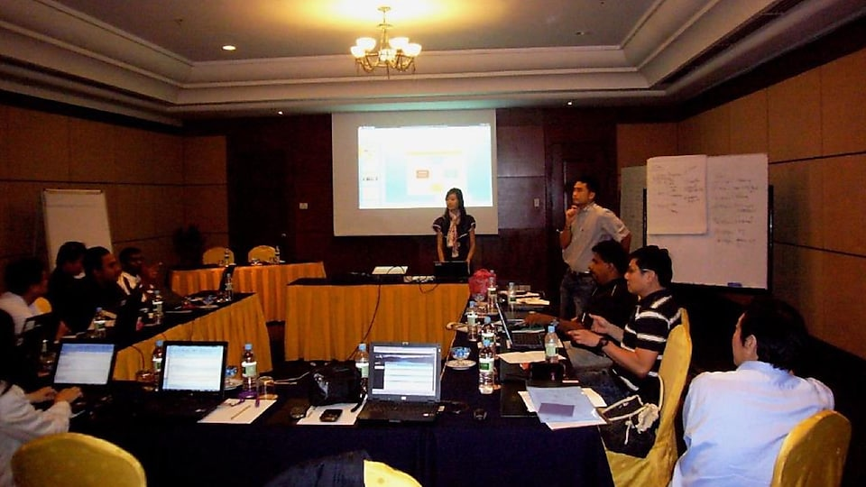 Christina present reional sales-meeting penang