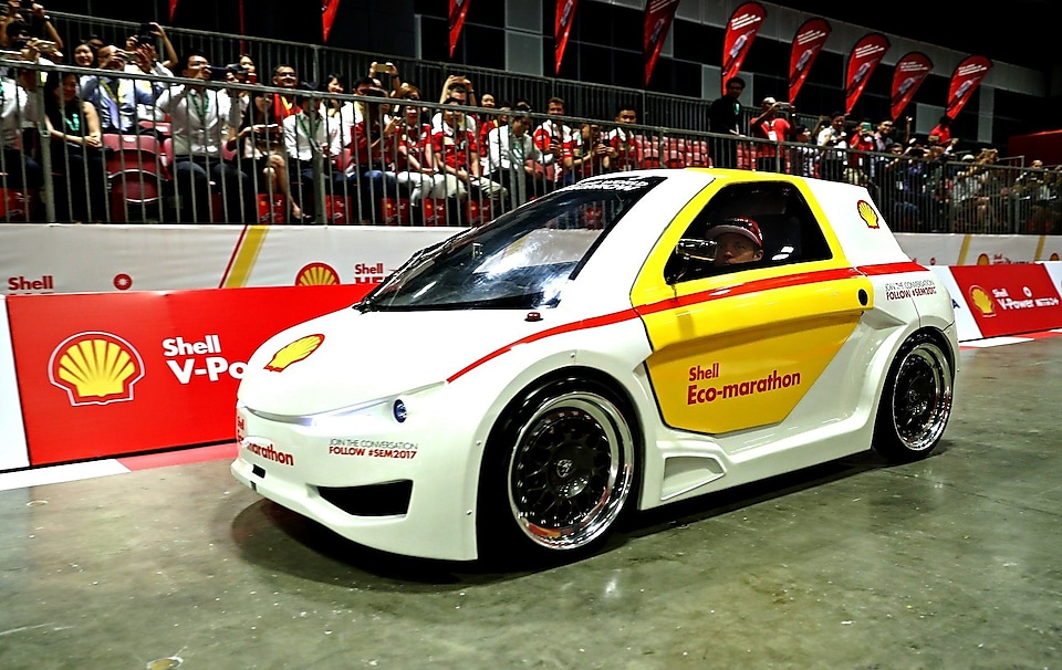 Kimi Raikkonen of Finland and Ferrari at the Shell Eco-Marathon event during the Formula One Grand Prix of Singapore at Marina Bay Street Circuit on September 15, 2016 in Singapore.