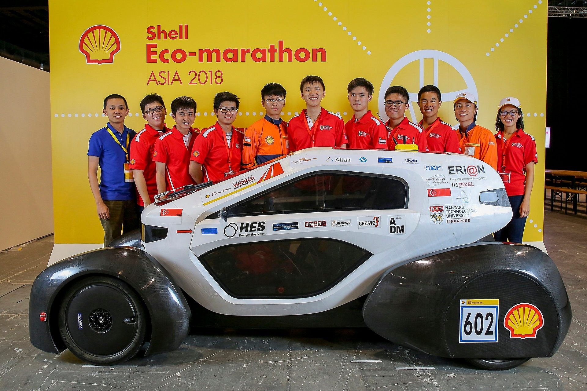 NTU Singapore 3D-Printed Car emerged champion in the UrbanConcept – Hydrogen category at Shell Eco-marathon Asia 2018 and will compete in the Drivers' World Championship Asia regional final on Sunday.