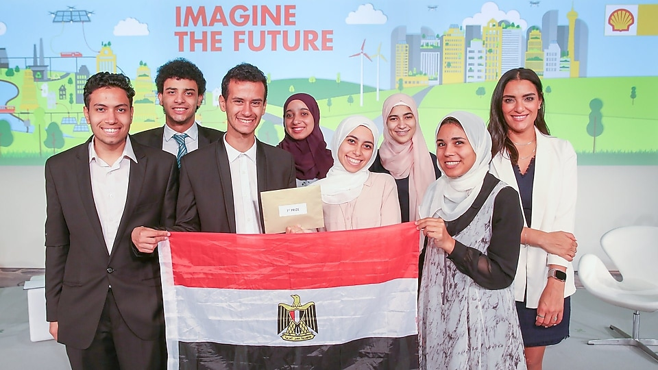 The Egypt national team from the University of Science and Technology in Zewail City